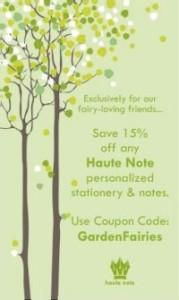 Haute Note - Garden Fairies Coupon Code - TreeMax.ca